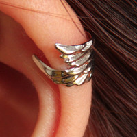Wholesale New Punk Wings Hollow Out Vintage Earrings Ear Cuff Warp Clip Fashion Jewelry Unisex Earrings Clip on