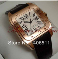 Wholesale Men s Luxury Dress Styles Medium kt Rose Gold Chocolate Strap Automatic Limited Edition watches