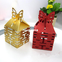 Wholesale Chinese traditional Candies Box Happiness wedding favor Boxes Butterfly Wedding Favor Gift Box