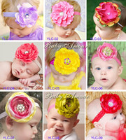 Wholesale Baby Amour New Design Headbands Big Flower Inlay Crystal Plastic Hair Band Girl Hair Accessories