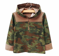 Wholesale Fashion Camouflage Green Hoodie Sweatshirts Casual Tops Boys Clothes Hoody Hoodie Long Sleeve Hooded Tops Children Clothing Kids Sweatshirts