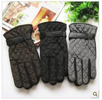 Wholesale Han edition winter fashion warm man gloves manufacturers selling cycling antiskid lozenge case leather gloves