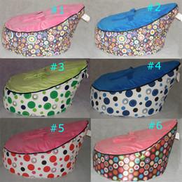 TOP VEND 50pcs Baby Bean Sac Enfants Canapé Chaise Couverture Soft Snuggle Bed Deux couvertures et un avec harnais Bracelet ovely motif mélange de commande