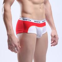 92% Polyamide + 8% Spandex Boxers Sexy 5PCS Lot Mens Man Male Sexy Underwear Breath Holes Boxer Brief Low Rise Bulge Pouch Boxers Briefs Trunks Underpants Shorts Ligerie M L XL