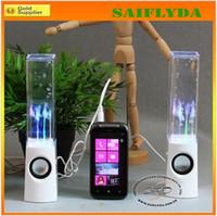 2 For iPod Touch MP3 Speaker Dancing Water Speaker Portable Mini USB LED Light Speaker For PC MP3 MP4 PSP
