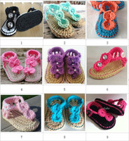 Crochet baby sandals first walker shoes color match infant s...