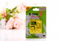 Wholesale NEWEST HOT Green R SIM8 R SIM plus NANO Dual sim unlock for ios7 iphone5 iphone4s SUPPORT G G K With Code