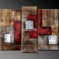 Oil Painting Abstract Unframed 3 Piece Wall Art Modern Abstract Large Cheap Wall Art Oil Painting On Canvas Art Decor Prints For Home Decoration picture