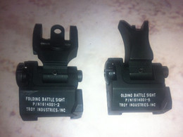 Wholesale Metal TROY Industries Folding Battle Sight Front and Rear Sights COMBO Back up Sight