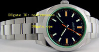 Wholesale luxury Men s Swiss Automatic Watches ETA mm Black Dial Green GV AAA Top quality Men s Mechanical Watches Mens Watch