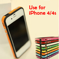 Plastic colored buttons - New Colored Bumper Frame TPU Case Cover w Side Button For Iphone G S