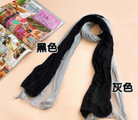 silk scarf solid color - Professional scarves women square silk scarf Solid color gradient color scarves for women autumn winter shawl one