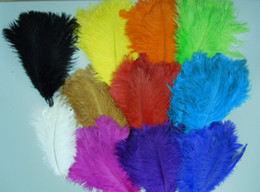 wholesale 400pcs lot Ostrich Feather White,Royal bule,Pink,Purple,Red,Ivory,Fushia,Gold,Black,Orange A Quality for wedding centerpiece