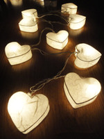 other   Romantic White Hearts LANTERN Paper Handmade Fairy String Lights Party Patio Wedding Floor Table or Hanging Gift Home Decor