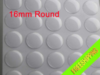 Wholesale 100pcs mm D round clear epoxy resin stickers Eco friendly epoxy stickers