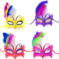 Wholesale Halloween Hip Hop Party Masks Kids Adult Butterfly Side Feather Mask Painted Princess Mask MK004