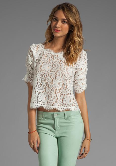 Browse Free People's wide selection of tops for women. Choose from these stylish and comfortable white lace tops, off the shoulder tops, and more!