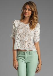 Wholesale Joie FANNY LACE TOP T shirt WHITE Sz XS S M