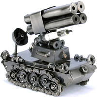 Other chalybeate  Metal tank rocket cannon home small personalized model decoration