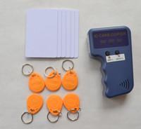 Wholesale Handheld Khz EM4100 RFID ID copier writer duplicator free Writable cards free Writable keychains