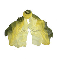 Wholesale Piece Fashion Women s Long Wrap Union Dyeing Silk Scarf Chiffon Georgette Scarves For Christmas Wedding
