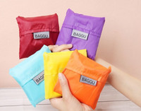 Wholesale Square Pocket Shopping Bag Many Colors Available Eco friendly Reusable Folding Hand Bag for Daily Home Use
