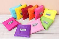 Wholesale Fashion Eco friendly Shopping Bag Nylon Bag Folding Portable Storage Large Eco friendly Bag