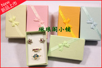 Wholesale jewelry packaging earring boxes necklace case box wedding gift box brooch boxes Jewelry Pouches Jewelry Paper Box jewelry case Ring Boxes
