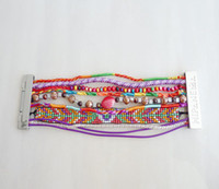 Wholesale Fancy Brazilian Style Hipanema Bracelet Colorful Beads Handmade Charms Magnetic Lock Bracelet HP24