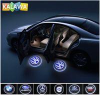 bmw logo - Car door projector lamp Car logo light LED door welcome light ghost shadow light for vw hon da to yota ben z bmw hyun dai ford volvo GGG