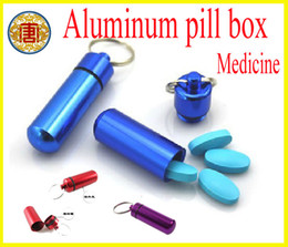Wholesale Mini Aluminum Waterproof Pill Box Case Bottle Cache Drug Container Keychain