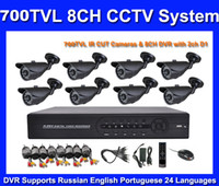 Wholesale 960H ch CCTV System DVR Kit TVL Waterproof IR Camera h ch Full D1 CCTV DVR with HDMI and VGA Mobile Phone View