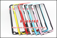 For Samsung   TPU soft PC Frame Bumper bumpers skin cover for Samsung Galaxy Note 3 III Note3 N9000 dual color two tone colorful case 50pcs