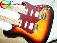Solid Body 12 Strings Basswood Custom shop Double neck guitars 6 strings 12 strings Electric Guitar in Vintage Free Shipping