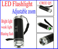 Wholesale High quality Cree led dual tent light CREE Q5 glare flashlight retractable zoom multifunctional camping light