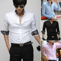 Wholesale Fahion Stylish Mens Luxury Formal Casual Suits Slim Fit Dress Shirt Collection