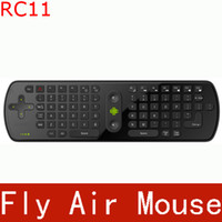 Wholesale Measy in1 Gyroscope RC11 Air Fly Mouse G Mini Wireless Keyboard Mouse Remote Controler for Google Android TV Box