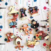Wholesale European Countryside Style cute cartoon wooden Fridge Magnet Magnet