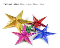Wholesale The Most Popular Christmas Colorful stars Christmas decorations Colorful paper From opec