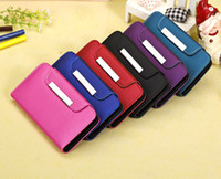 PU iphone 5c - Matte Surface Wallet Case Flip Leather Cover Skin w Lanyard and Card Slots for iphone C iphone5C