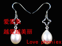 Wholesale Y5409R AA True Freshwater Pearl Earrings Drop Earring Jewellry sterling silver pearl earring Fashion Jewelry