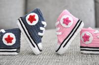 1pair Baby crochet sneakers tennis booties infant sport shoe...