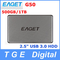 Wholesale Original Eaget G50 GB TB quot Inch USB Slimline Portable HDD External Hard Drive Disk High Speed Metal Silver