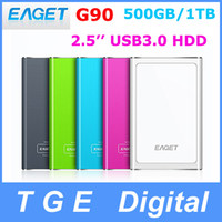 Silver,Purple, Blue, Green, Black 500gb external hard drive - Original Eaget G90 GB TB quot Inch USB External Portable Hard Drive Disk HDD High Speed Metal Colors