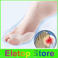 Wholesale pairs Gel Bunion Big Toe Separator Spreader Eases Foot Pain Foot Hallux Valgus Guard Cushion big toe spereader