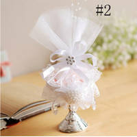 wine glass box - WL W Charming Elegant European Lace Cup Wine Glass Candy Box Case Storage With White Tulle For Wedding Party Favor
