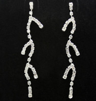 Wholesale Korean Style Body Shap Hanging Branches Rhinestone Earrings Girls Ear Accessories