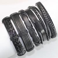 Wholesale FL46 new fashion handmade ethnic braid bracelets wristband genuine leather bracelet for party