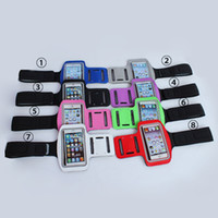 iphone case - 10 Colorful Universal Running Sport GYM Armband Belt Pouch PU Leather Skin Cases Cover For iphone S C iphone S