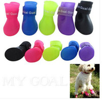 Wholesale Pet Dog Rain Shoes Waterproof Protective Rubber Puppy Cat Boots Booties S M L